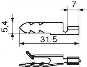 Końcówka typ EL 2,5 (do łączników ekranu N) (1)